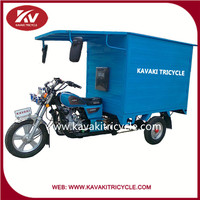 2015 KAVAKI brand close carriage box three wheel cargo motorcycles made in china for farm