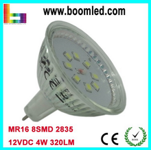 Factory Sale 12V LED Spotlight 4W MR16 Warm white Glass Cup 2835 Chips