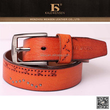 Made in china promotional plain genuine leather belts