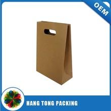 Personalized Die Cut Handles Paper Bag For Shopping & Brown Kraft Paper Bag