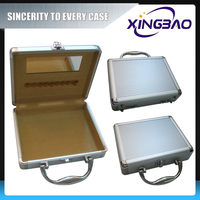 Transparent combination cosmetic case,cubic bulk cosmetic case,ABS panel aluminum cosmetic case