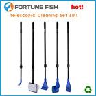 Telescópica 5 em 1 aquário limpeza set escova ferramentas fortunefish
