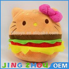 animal soft pillow toy,plush bread pillow,stuffed sandwich pillow