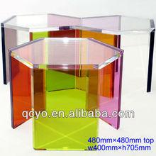 2015 Color crystal acrylic dining table acrylic board chair