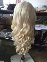 Unprocessed grade 6A brazilian bo613#dy wave full lace wig