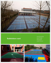 synthetic badminton court