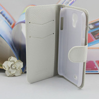 New arrival pu leather flip cover case for samsung galaxy s4 i9500