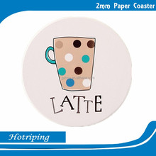 Decoration oem brand logo cup mat/ coaster for Latte cup mat/ coaster