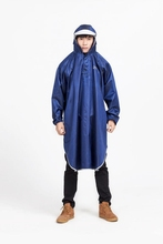 adult breathable 100% polyester waterproof rain poncho with PVC hood 9038