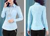 Long sleeve woman autumn shirt bank uniform for diver design blouse staff nurse