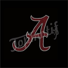 University of Alabama Rhinestone Transfer With Red Colors