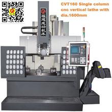 CVT160 single column VTL China vertical lathe machine price