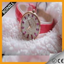 2015 Fashionable simple quartz mens trendy leather watch
