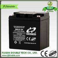 back up storage ups battery sealed lead acid battery 12v 24ah