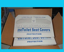 China Manufacturer Hot Sale 100% Wood Pulp Paper Disposable Toilet Seat Covers For Travel