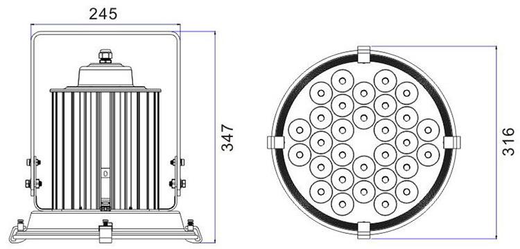 high lumen waterproof 100w solar power projecteur led