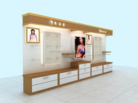 plywood lingeries show cabinet with LED for underwear store