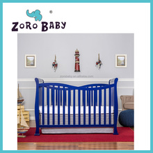 Single baby cribs multi-function wooden cot