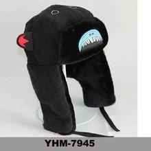 Newly Custom Winter Shark Wool Man Trapper Hat With Earflap