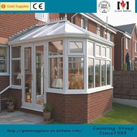 Decorative Glass Aluminum Extrusion Sunroom /Winter Garden from China GM-ZS018
