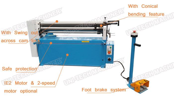 (ESR-1300) Electric slip roll machine from manufacture