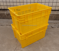Widely used plastic crates, bread crates