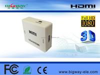 Bigway Manufacture hot sale mini vga to hdmi vga to hdmi converter