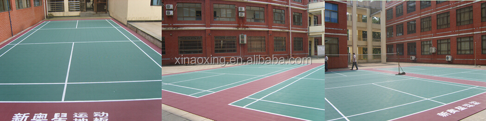 SUGE Outdoor Interlocking Basketball Court Flooring Tile, PP Interlocking basketball flooring