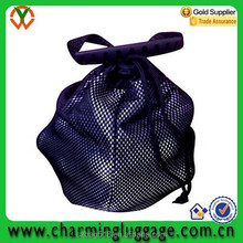 stand cart drawstring mesh bag golf balls/mini design your own golf bag with waterproof bottom
