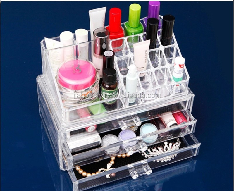Wholesale Acrylic Cosmetic Drawer Clear Perspex Makeup