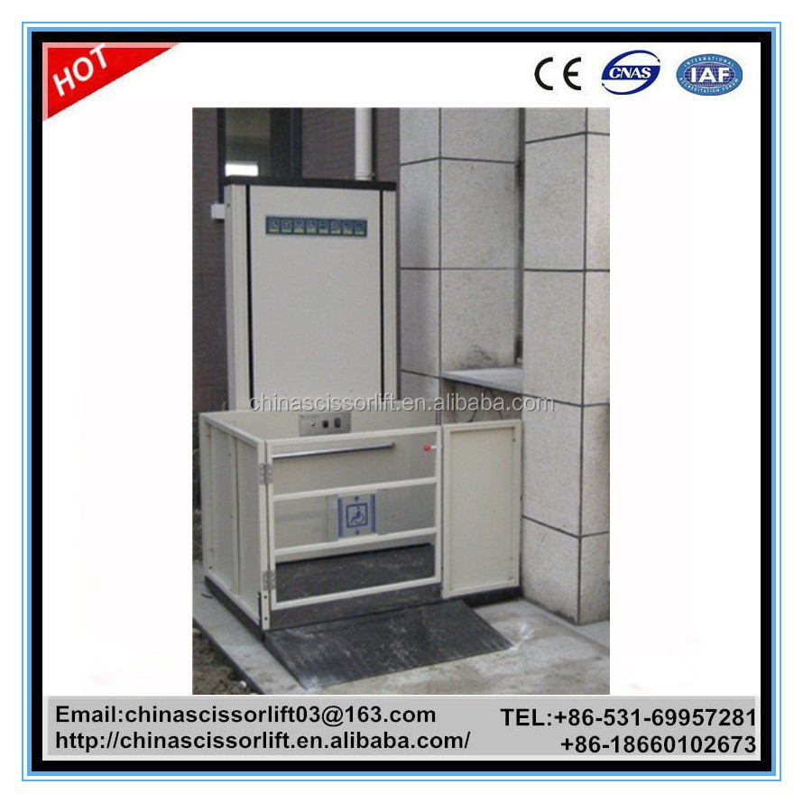 2m small home lift price hydraulic wheelchair lift for Small elevator for home price