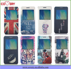 Painting ultra thin flip leather case for Samsung galaxy A5/A5009/A5000