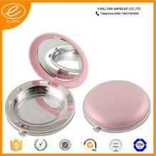 2015 Free sample cosmetic makeup packaging empty plastic compact powder case