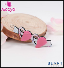 Baby Hair Accessory Colored Hair jewellery Peach Heart Hairpin For Thick Hair