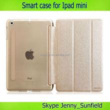 Tablet case cover auto sleep wake super slim smart case for ipad mini , for mini ipad case smart ,for ipad mini case slim