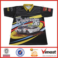Custom Sublimation Motorcycle Racing Shirt/motorcycle fitted/full hidden snap racing shirt