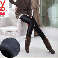 DD008 Women's autumn and winter plus thick velvet leggings ladies big yards skin thin black pencil feet pants