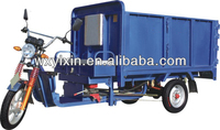 Electrical freight tricycle with hydraulic dump bed