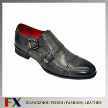 High quality Italian men shoes / Italian genuine leather men shoes with Monk Strap