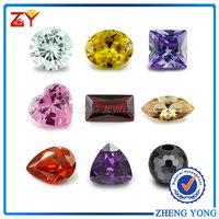 AAA cubic zirconia/Olive yellow round gems/Brilliant cut gemstone