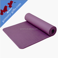 Natural fitness exercise custom eco yoga mat wholesale with carry bag