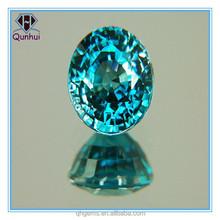 Hot Sale Oval Cut Bright Aquamarine Cubic Zirconia