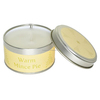 Warm Mince Pie Scented Soy Decorative Candle in Tin