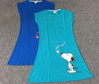 2015 summer jersey cotton dress and pajamas , sexy transparent dress sleepwear dress