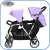 fashion shape twin baby stroller with removable bumper 4029T