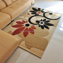 Cut pile polyester hand made carpet living room