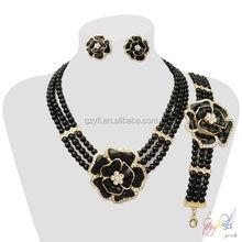Affascinante perline di corallo nero insieme dei monili/squisita Nigeria gioielli di perline ingrosso