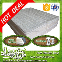 fireproof pillow top bonnell spring bed base and mattress