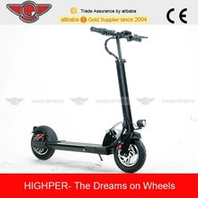 250w 10.4ah brushless alloy folding 2 wheel electric scooter with 10'' tire (HP109E-C)