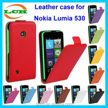 Elegant appearance up and down to open flip leather with magnet mobile phone case for Nokia Lumia 530